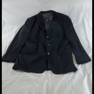 Merona black cotton velvet blazer